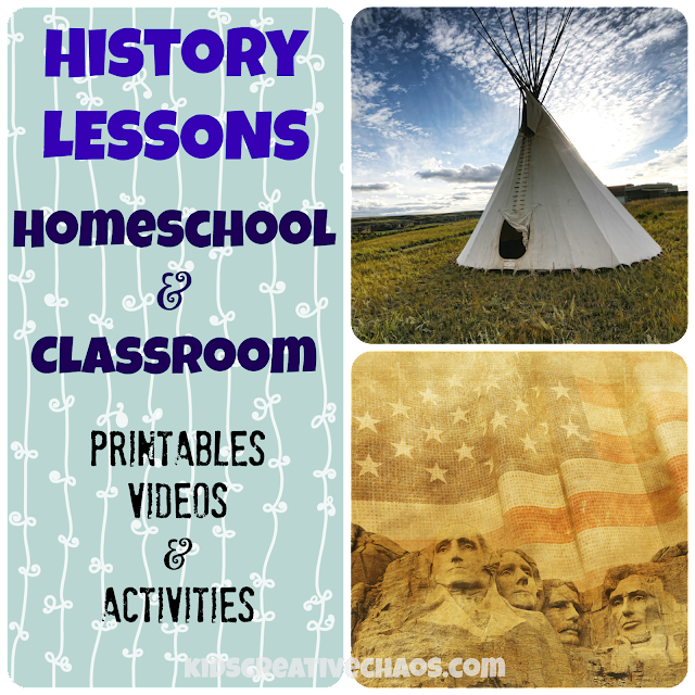 Online History Lessons:Curriculm, Printables, and Videos
