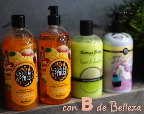Geles y lociones de baño olores dulces