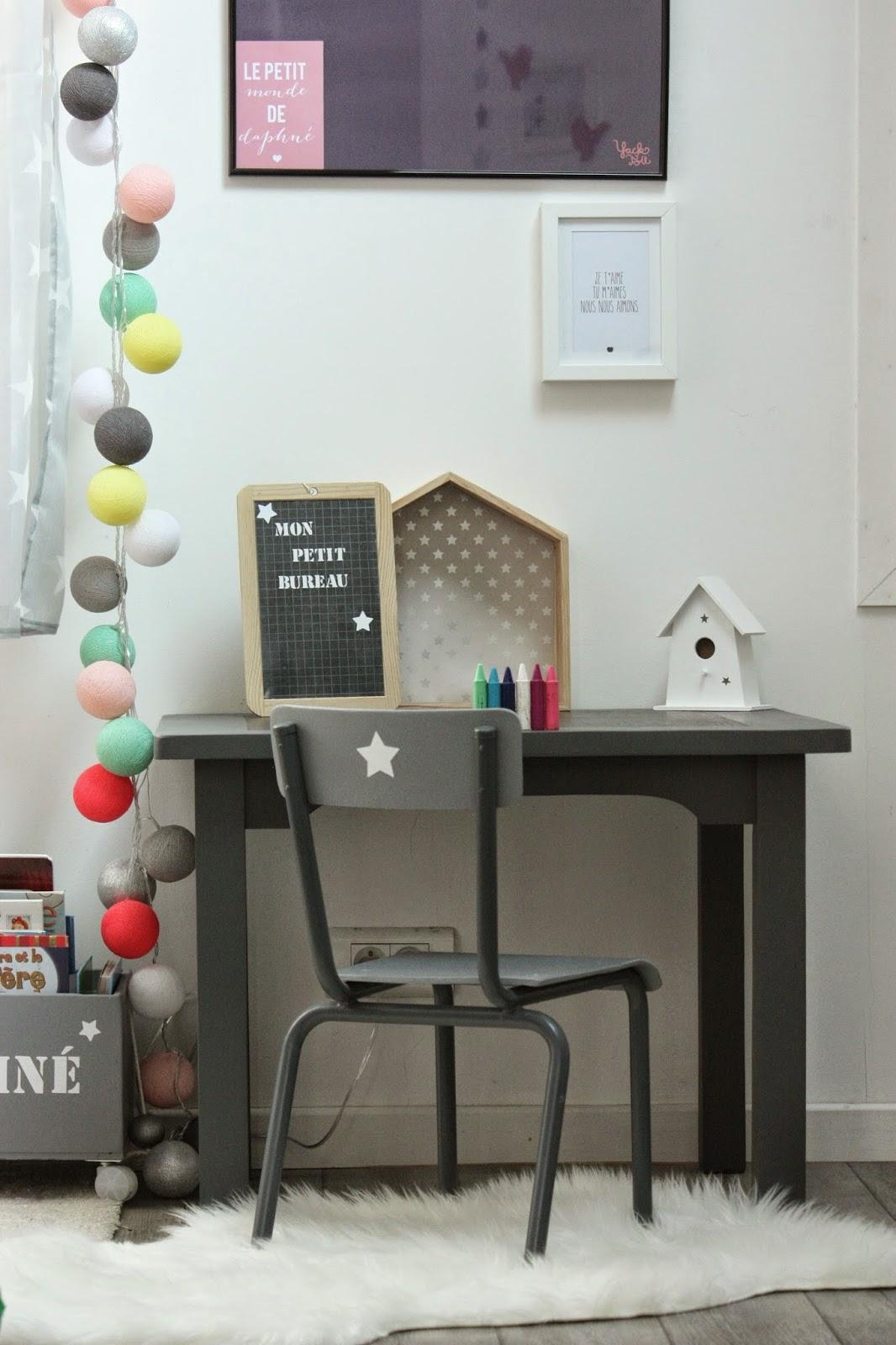 un nouveau regard customisation d 39 un bureau pour enfant. Black Bedroom Furniture Sets. Home Design Ideas
