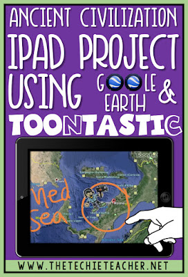 Ancient Civilization iPad Project Appsmash using the Google Earth app and Toontasic app. Technology in the classroom.