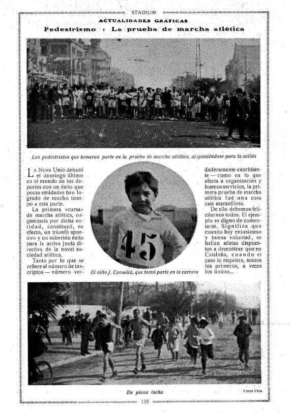 Semanari Stadium: la primera cursa de marxa a Barcelona