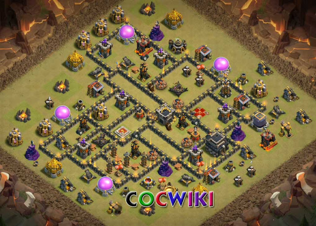 coc th9 war base layout