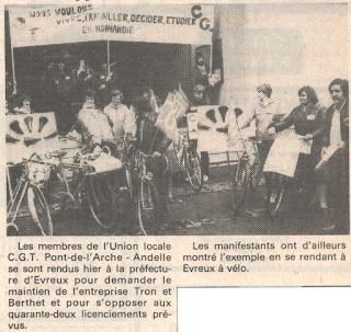 Tron et Berthet à Pont-Saint-Pierre - La selle Idéale. Paris-Normandie 21/10/1981
