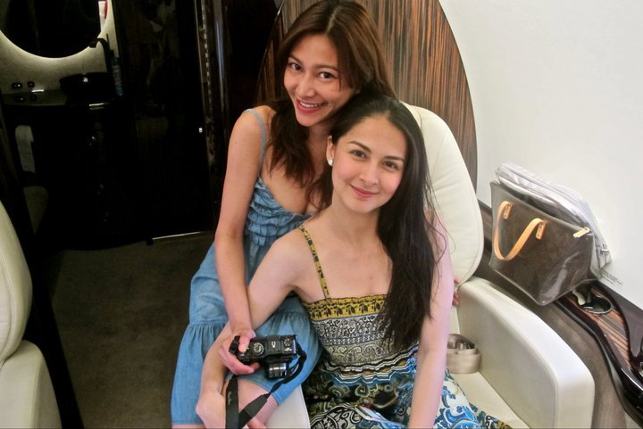 marian rivera and rufa mae quinto in private jet2