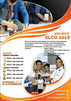 ELCO (Elektro Line follower Contest) 2018 di Universitas Bengkulu