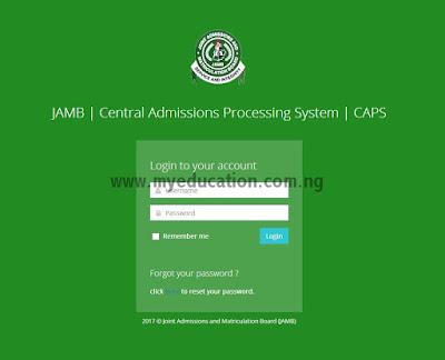 Summary of JAMB CAPS Sensitization Programme 2017