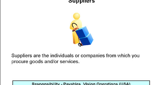 Oracle Applications Purchasing :Suppliers(Shared Entities)