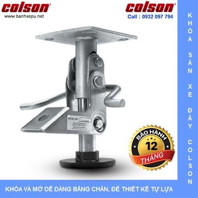Khóa sàn xe đẩy Colson Floor Lock Brake tổng chiều cao 169mm | 6253x5 wwwbanhxedayhang.net