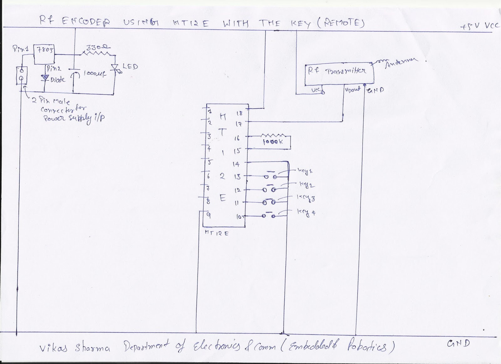 Remote Controller Appliances 2embeddedrobotics Rf Circuit Diagram Of