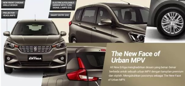 Spesifikasi All New Suzuki Ertiga 2018