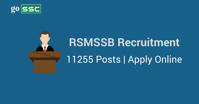 RSMSSB Recruitment- Rajasthan