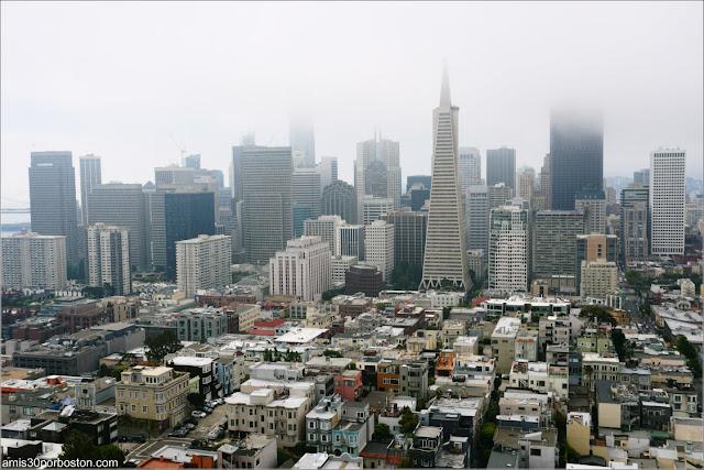 Vistas de San Francisco desde el Observatorio de la Torre Coit