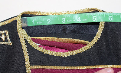 TNG season 1 admiral jacket - neckline