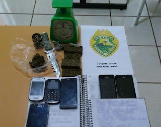 Roncador: PM apreende drogas e prende suspeitos em residência no Jardim Anchieta