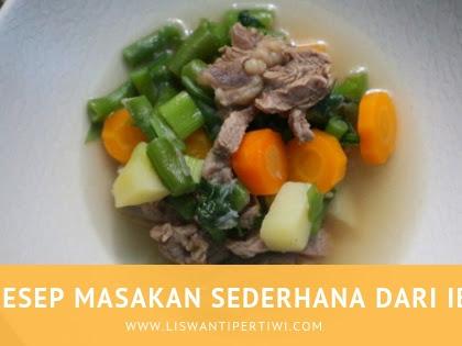Resep Masakan Sederhana Dari Ibu
