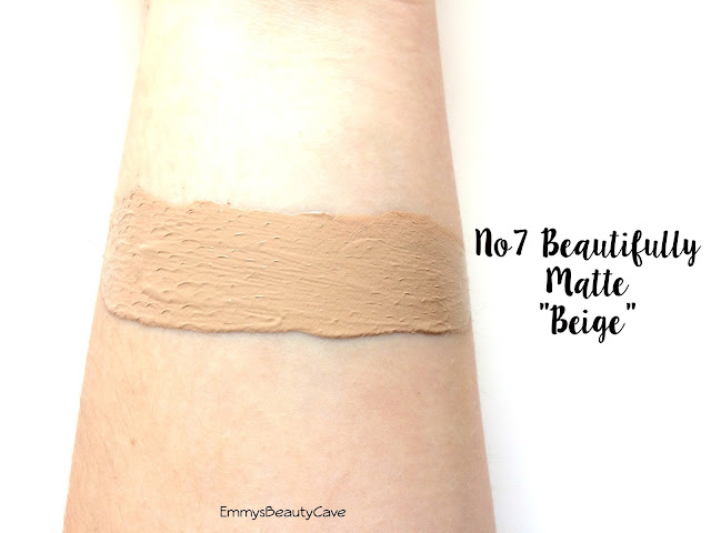 NO7 Beautifully Matte Foundation Beige Swatch