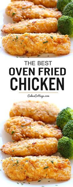 The Best Oven Fried Chicken #appetizer #sidedish #fried #chicken