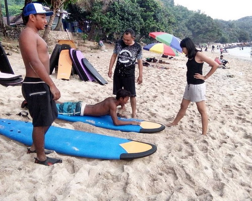 Tinuku Wediombo beach in Gunung Kidul, the hidden paradise for surfing and snorkeling on white sand and coral reefs