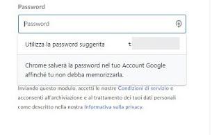 Password suggerita