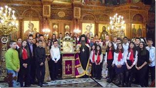 Το Μουσικό Σχολείο Κατερίνης ψάλλει την ακολουθία των Α΄ Χαιρετισμών στον Ιερό Ναό Αγίου Σάββα στην Κατερίνη