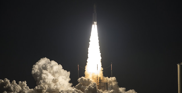 Arianespace's Ariane 5 launch on June 1, 2017 marked the heavy-lift vehicle's 79th consecutive success. Flight VA237. ViaSat-2 and EUTELSAT 172B. Credit: Arianespace