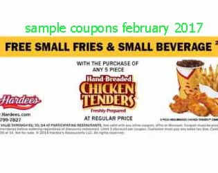free Hardees coupons for february 2017