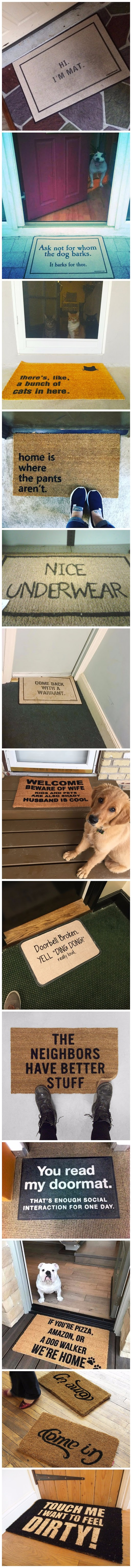 Funny doormat picture collection