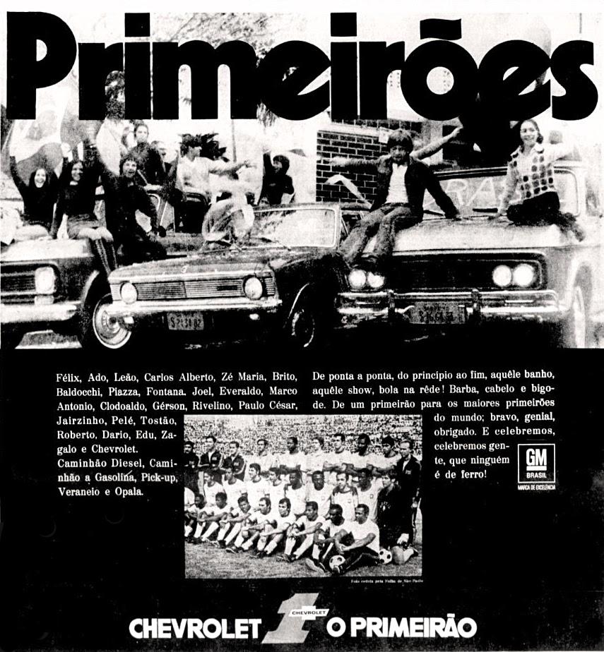 Copa do mundo de futebol de 1970; Brasil tri campeão; anos 70; história da década de 70; Oswaldo Hernandez