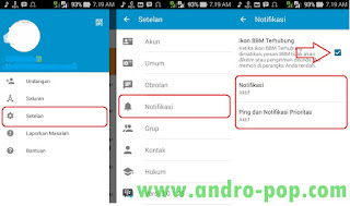 Setting Notifikasi BBM Android
