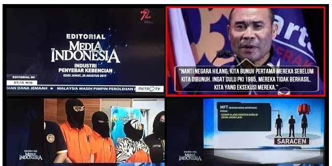 Saracen & Gorengan MetroTV Sudutkan Islam, Apa kabar Kader SARA Victor Laiskodat?