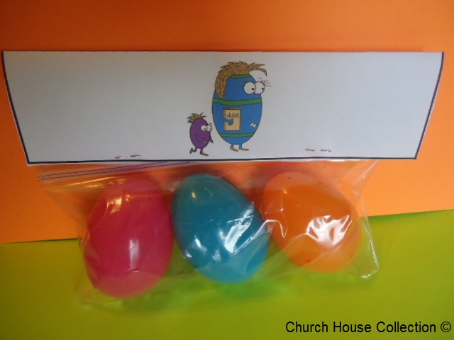 "Easter Egg Bible Snack For Sunday School ""Jesus Rose From The Dead"" by ChurchHouseCollection.com"