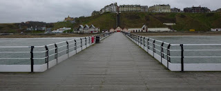 A view of the promenade from the pier in Saltburn-by-the-Sea