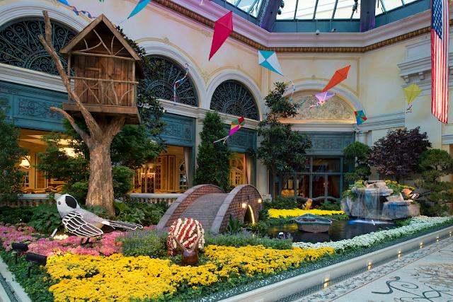 Como são o jardim botânico e conservatório do Bellagio em Las Vegas