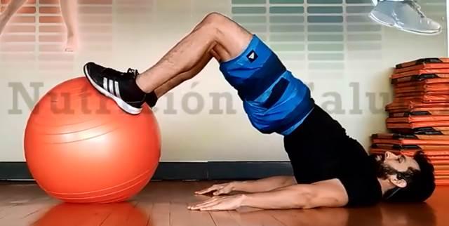 Elevación de cadera para glúteos y abdomen