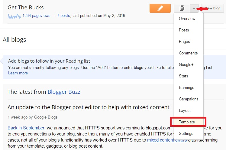 Get the bucks remove author name labels and comments from blogger just click on edit html to open your blogger html file maxwellsz