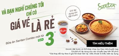 Air Asia siêu khuyến mãi combo santan mới