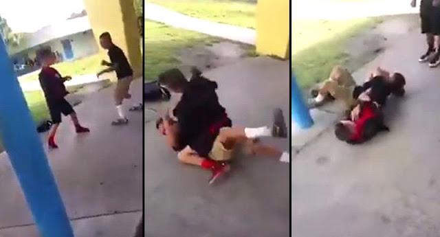 Bully lo ataca pero se defiende con técnicas de MMA