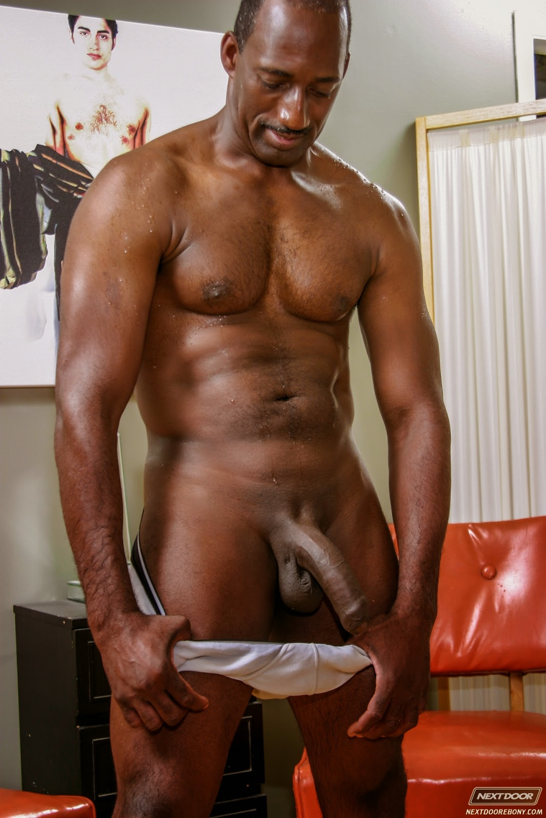 Nude old black men