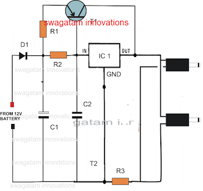 double cellphone charger circuit
