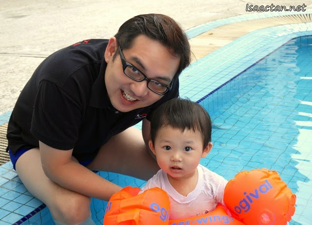 Baby Martin's First Time In The Swimming Pool