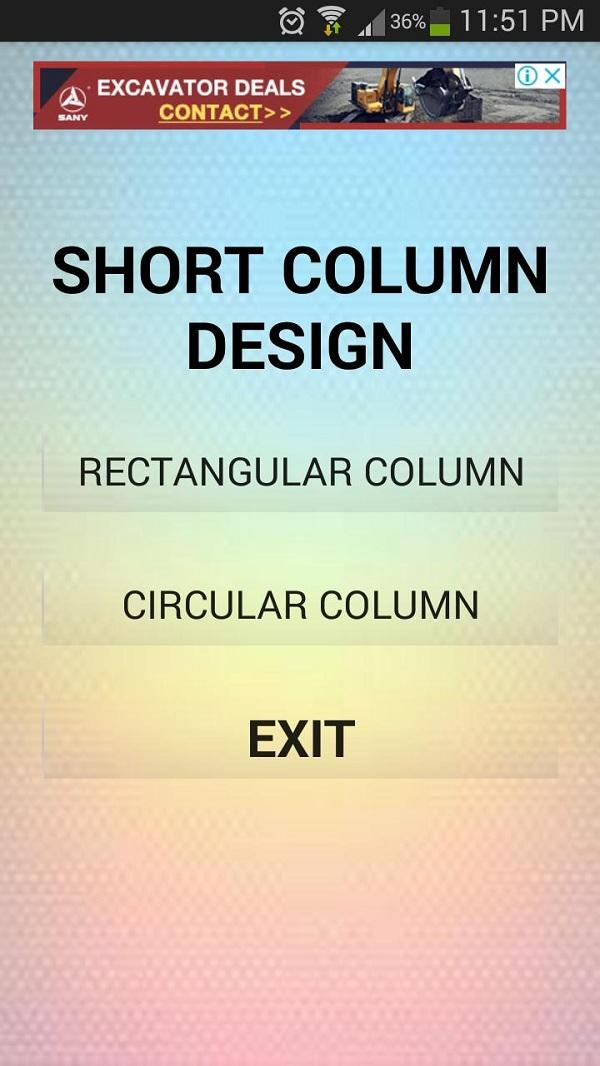 افضل تطبيق لتصميم الأعمدة الخرسانية على الاندرويد Column design | المهندس العربي