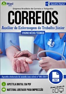 Apostila Concurso Correios 2017 Auxiliar de Enfermagem do Trabalho Júnior