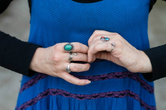 how to wear boho rings
