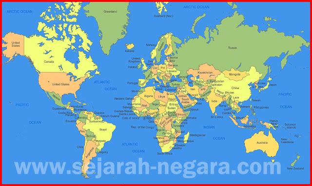 Gambar Peta dunia berwarna HD