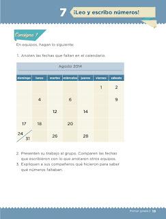 Apoyo Primaria desafíos matemáticos 1er grado Bimestre 1 lección 7 ¡Leo y escribo números!