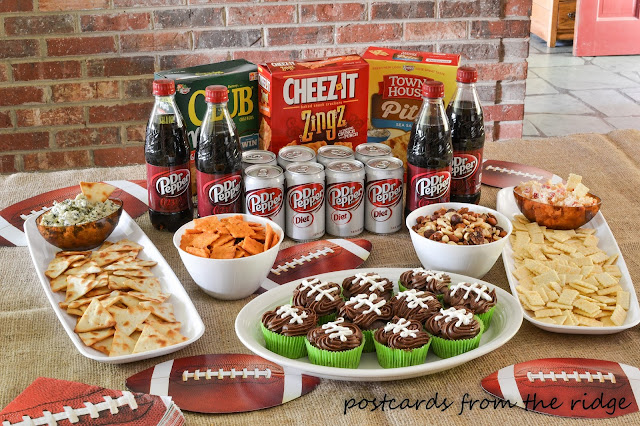 Game Day Food including 2 ingredient cupcakes ~ Postcards from the Ridge
