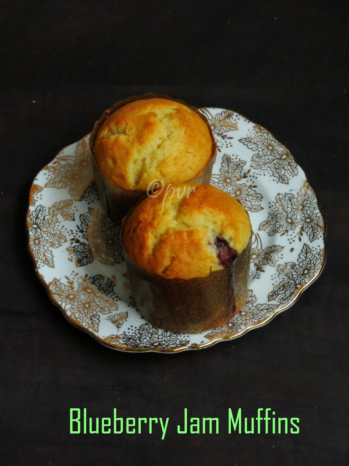 Blueberry Jam filled muffins