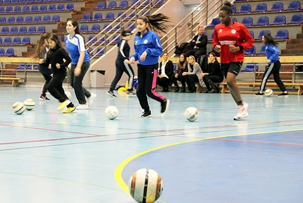 "Crown Princess Victoria of Sweden visited a football education organization that has been established in 2013 in town of Tumba for girls aged between 12 and 16, which is called ""Futebol da Forca Sverige"""
