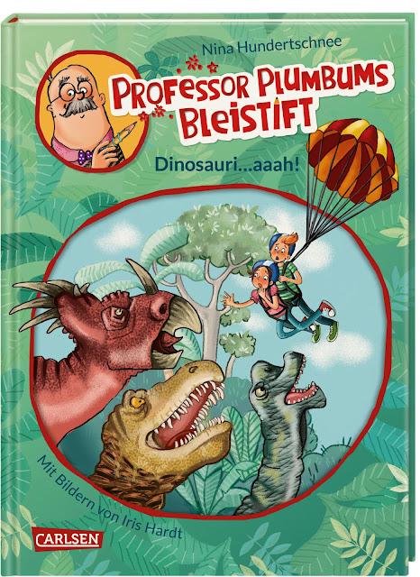 """Heute ein Buch! In der Welt der Phantasie unterwegs mit """"Professor Plumbums Bleistift"""". In Band 4 der Reihe für Leseanfänger sind die Dinosaurier los!"""