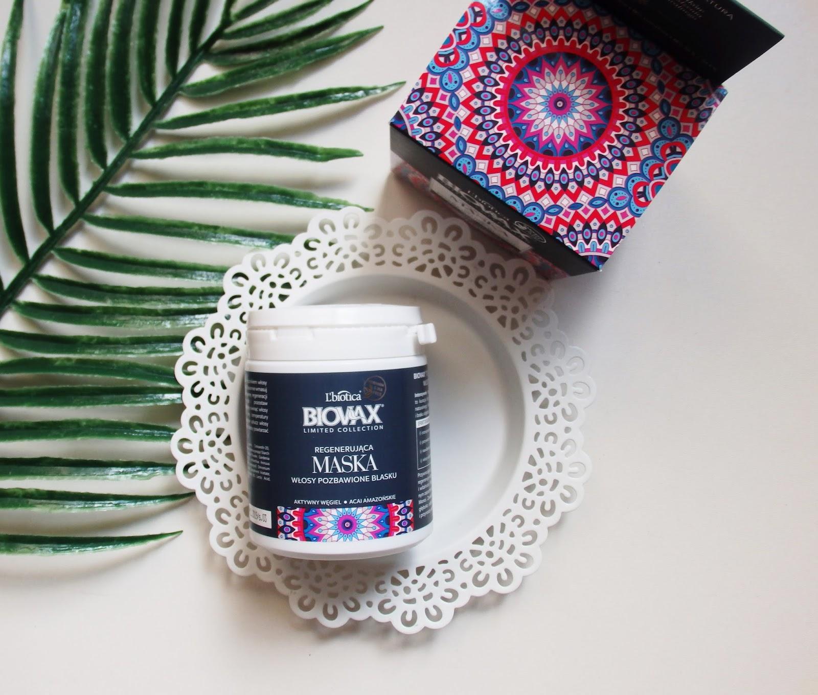Biovax, regenerująca maska do włosów aktywny węgiel i acai amazońskie